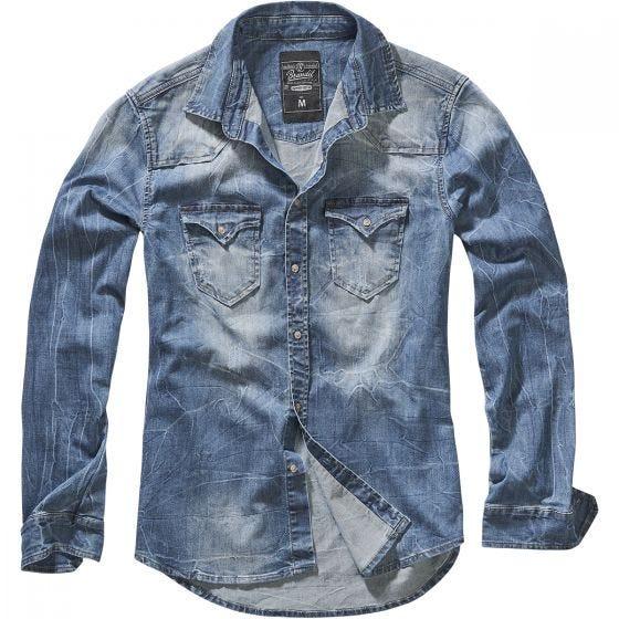 Brandit Riley Denim Shirt Denim Blue