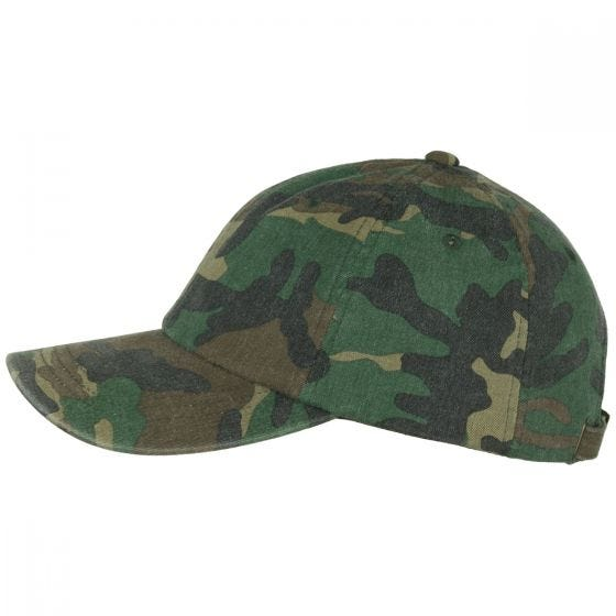 YP Low Profile Camo Washed Cap Woodland