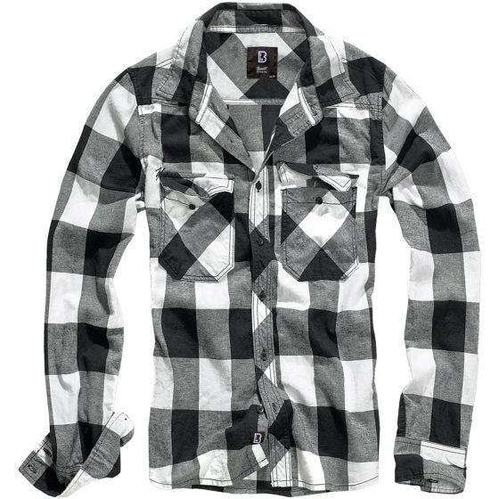 Brandit Check Shirt White / Black