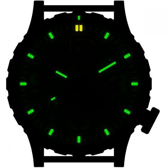 Hazard 4 Heavy Water Diver Titanium Tritium Watch BlackTie Green/Yellow