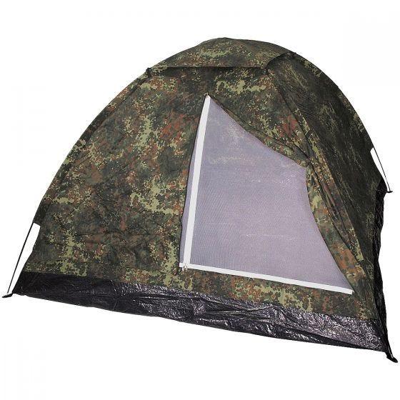 MFH 3 Person Tent Monodom with Mosquito Net Flecktarn