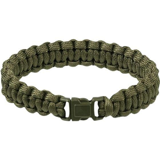 Mil-Tec Paracord Wrist Band 15mm Olive