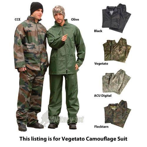 Mil-Tec Waterproof Suit Vegetato Woodland