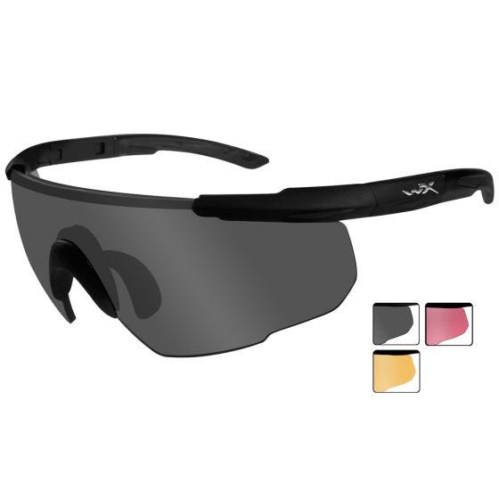 Wiley X Saber Advanced - Smoke Gray + Light Rust + Vermillion Lens / Matte Black