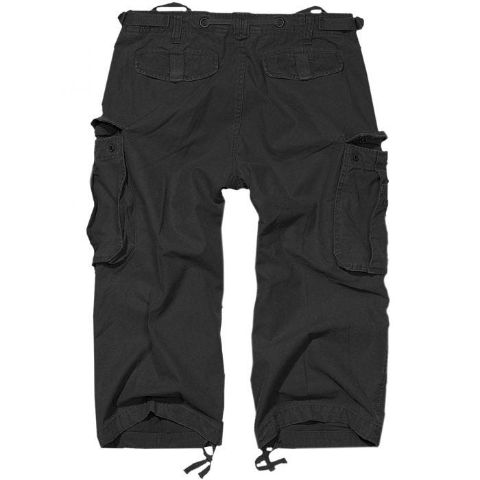 Brandit Industry Vintage 3/4 Shorts Black