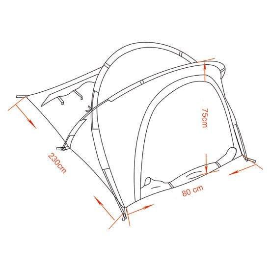 "MFH Tent ""Osser"" with Aluminium Frame OD Green"