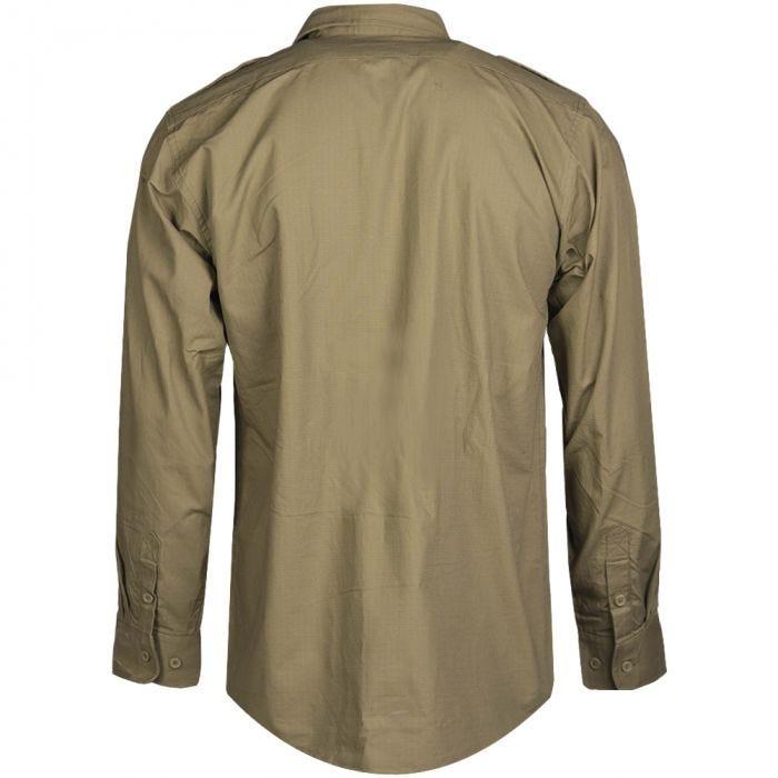 Mil-Tec RipStop Shirt Long Sleeve Coyote