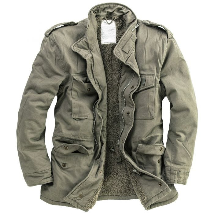 Surplus Paratrooper Winter Jacket Olive Washed