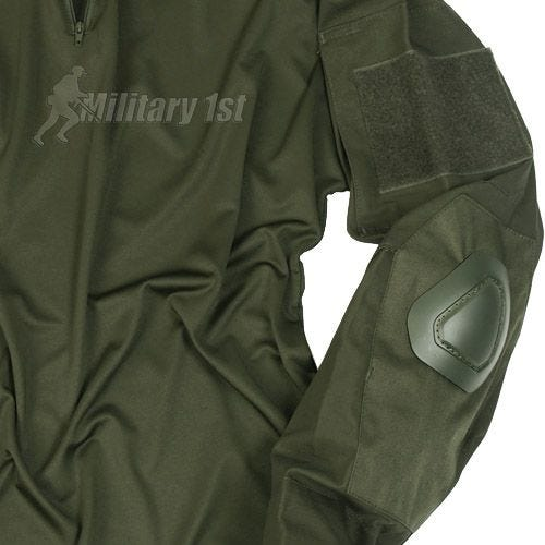Mil-Tec Warrior Shirt with Elbow Pads Olive