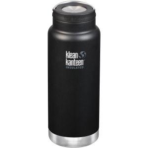 Klean Kanteen TKWide 946ml Insulated Bottle Loop Cap Shale Black
