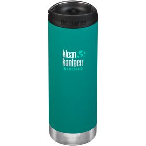 Klean Kanteen TKWide 473ml Insulated Bottle Cafe Cap Emerald Bay