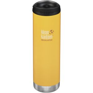 Klean Kanteen TKWide 591ml Insulated Bottle Cafe Cap Lemon Curry