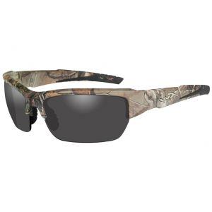 Wiley X WX Valor Glasses - Smoke Gray Lens / Realtree Xtra Camo Frame
