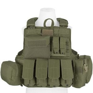 Flyye Force Recon Vest with Pouch Set ver. Mar Ranger Green