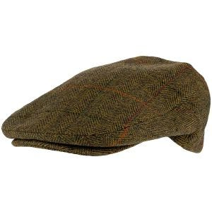 Jack Pyke Wool Blend Flat Cap Tweed Brown