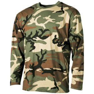 MFH Long Sleeved T-shirt Woodland