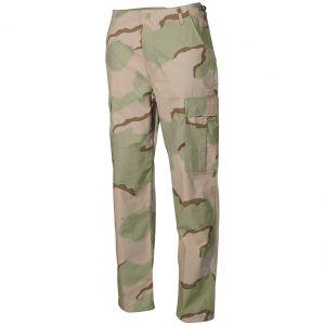 MFH BDU Combat Trousers Ripstop 3-Color Desert