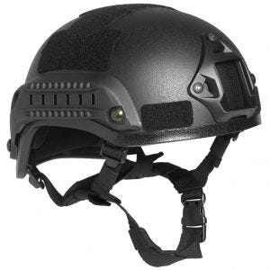 "Mil-Tec US Combat ""M.I.C.H. 2001"" Railed Helmet Black"