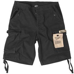 Paratrooper Cargo Shorts Prewashed Black