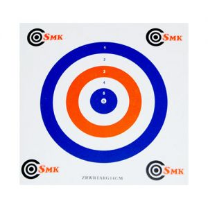 SMK Red White Blue 14cm Card Targets (100 Pack)