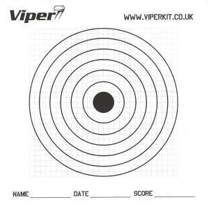 Viper Pro 17cm Paper Targets (100 Pack)