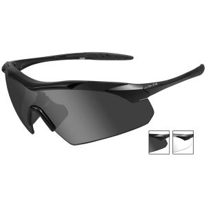 Wiley X WX Vapor Glasses - Smoke Gray + Clear Lens / Matte Black Frame