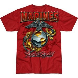7.62 Design USMC Eagle, Globe & Anchor Battlespace T-Shirt Scarlet
