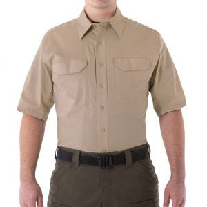 First Tactical Men's V2 Short Sleeve Tactical Shirt Khaki