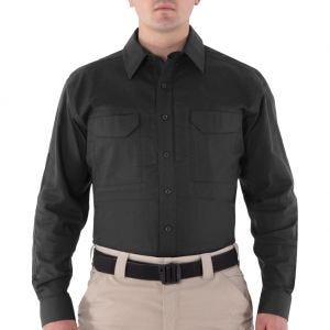 First Tactical Men's V2 Long Sleeve Tactical Shirt Black