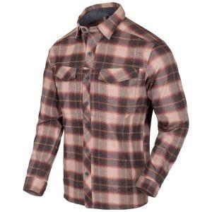 Helikon Defender Mk2 Pilgrim Shirt Long Sleeve Rust Plaid