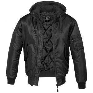 Brandit MA1 Sweat Hooded Jacket Black