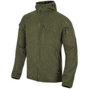 Helikon Alpha Hoodie Jacket Grid Fleece Olive Green