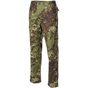 MFH BDU Combat Trousers Ripstop Vegetato Woodland