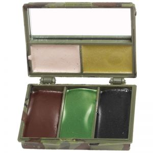 Mil-Tec Camo Face Paint 5 Colors with Mirror Woodland