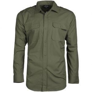Mil-Tec RipStop Shirt Long Sleeve Olive