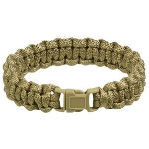 Mil-Tec Paracord Wrist Band 15mm Coyote