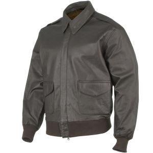 Mil-Tec A-2 Leather Flight Jacket Brown