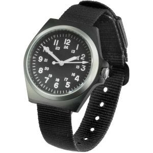 Mil-Tec US Style Army Watch Stainless Steel Black