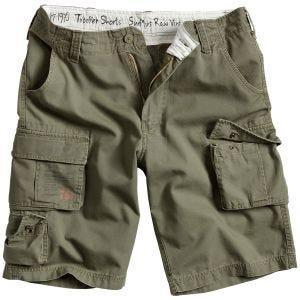 Surplus Trooper Shorts Olive Washed