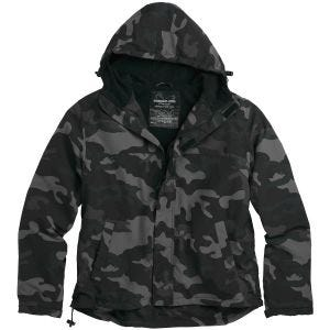 Surplus Windbreaker Jacket with Zipper Black Camo