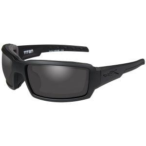 Wiley X WX Titan Glasses - Smoke Gray Lens / Matte Black Frame