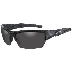 Wiley X WX Valor Polarized Glasses - Smoke Gray Lens / Kryptek Typhon Frame